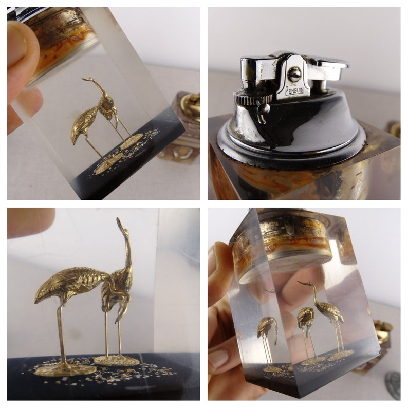 Penguin Lighters Table Lighter Parts Vintage Table