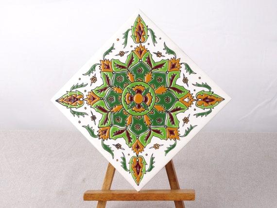 Boho ceramica decor retro mattonelle mediterranea arte etsy
