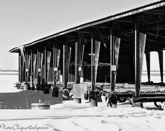 Frozen Rhythm / Winter Snow Landscape / Black and White, B&W, Monochrome / High Res Print / Fine Art Photography