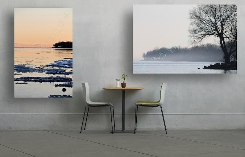 Landscape \u2022 High Res Print Fine Art Photography \u2022 Twill by Twilight \u2022 Tranquil Mid-Winter Seascape Waterscape \u2022 Nautical