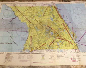 Aeronautical Charts Etsy - Vintage aviation maps