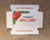 Crate Label, Virginia Shenendoah Apple Candy Vintage Box Label, Agricultural Farm Salvage