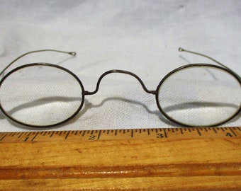 59a4765cf9ac Glasses, Vintage Spectacles and Case, Vineland New Jersey Optician Salvage,  Very Cool Old Antique Eyeglasses