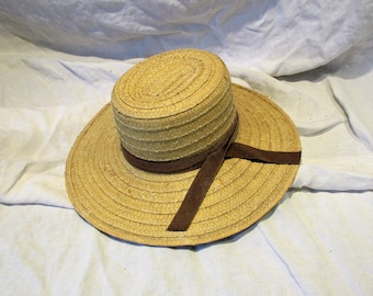 62d7f386 Amish Straw Hat, Vintage Woven Hat, Summer Hat, Vintage Millinery, Vintage  Clothing and Costume