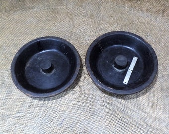 Foundry Mold, Old Wood Gear, Old Hand Made Sprocket or Hub, Industrial Factory Salvage