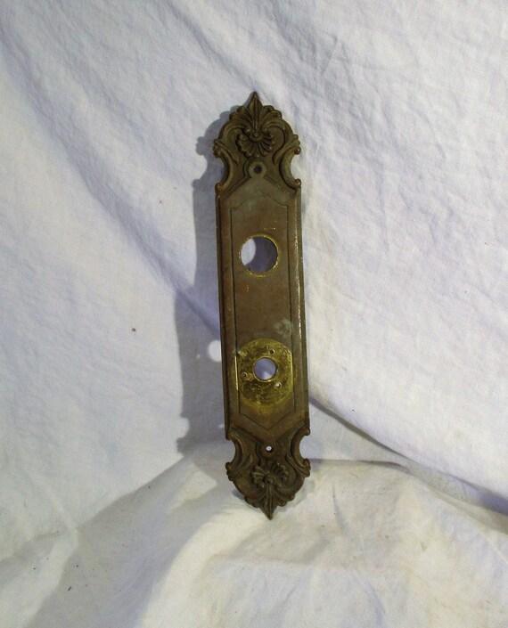 image 0 - Brass Door Latch Plate Antique Door Lock Hardware Old Etsy