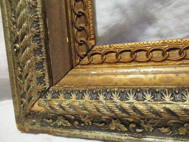 Late Victorian Transitional Period Intricate Picture Frames Matching PAIR Great Art Salvage