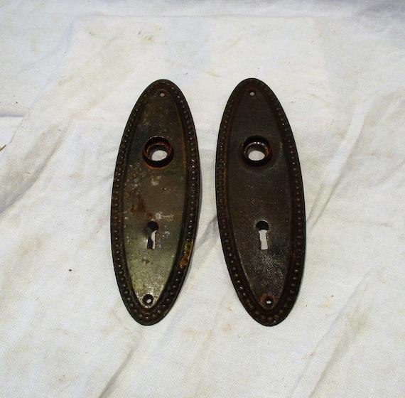 image 0 - Door Latch Plates Antique Door Lock Hardware Old Doorknob Etsy