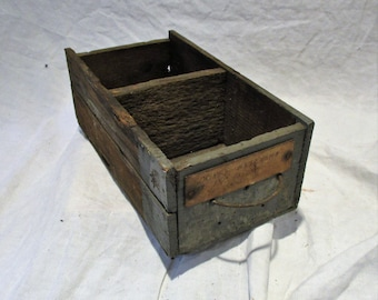 Wood Drawer, Old Industrial Factory Salvage, Antique Gray Drawer, Repurpose as Organizers