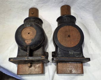 Foundry Mold, Antique Wood, Metcalfe Air Compressor, Industrial Factory Salvage