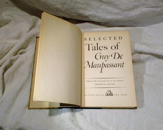 Tales Of Guy De Maupassant Vintage Short Story Book Etsy