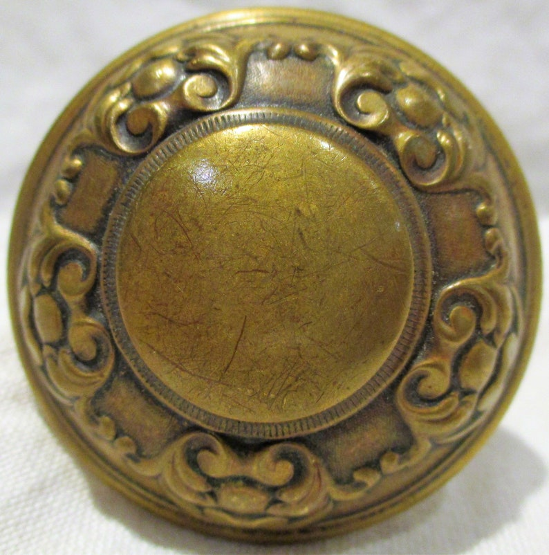 Antique Early 1900s Arts /& Crafts Hardware Old Doorknobs Architectural Salvage
