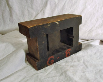 Foundry Mold, Rectangular Architectural Wood, Industrial Factory Salvage