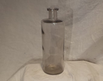 Apothecary Bottle, Old Scientific and Medical Glass Jar, Vintage Laboratory Salvage