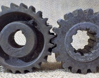Gears, Cogs, or Sprockets, Lot of 2, Industrial Factory Salvage