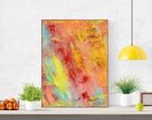 Digital Print 37'' // Colorful Abstract, Printable Wall Art, Modern Decor, Oil Painting Printable