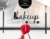 MAKEUP Photo Clipart Vol. 1 PNG PSD Authentic Top View Scene Design