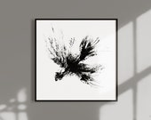 Mascara Bird Artwork, Printable Wall Art, Abstract Wall Decor