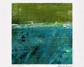 Mini Abstract Digital Print #39, Instant Download Art, Printable Wall Art, Green Art, Abstract Art, Square Print