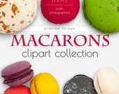 Macarons Photo Clipart Vol. 1 /PNG / PSD / Authentic Top View Scene Design