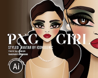 PNG Girl Clipart, Standard Commercial Use, Fashion Illustration Avatar