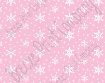 pink snowflakes etsy