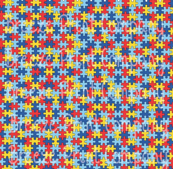 Puzzle pattern craft vinyl htv sheet HTV or Adhesive Vinyl