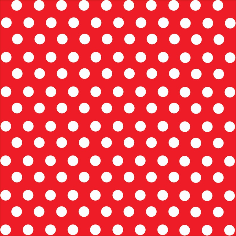 084058a2be506f Patterned Vinyl Red with white polka dot pattern craft vinyl