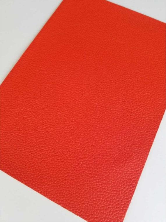 Vinyl Fabric Sheet Pecan Orange Textured Thin Faux Leather Sheets P5-112