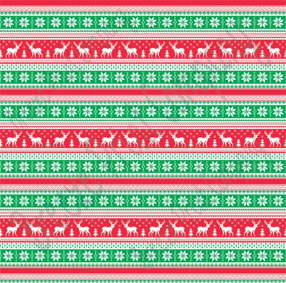 6734e3a5e9cdd8 Green red and white Christmas pattern craft vinyl sheet