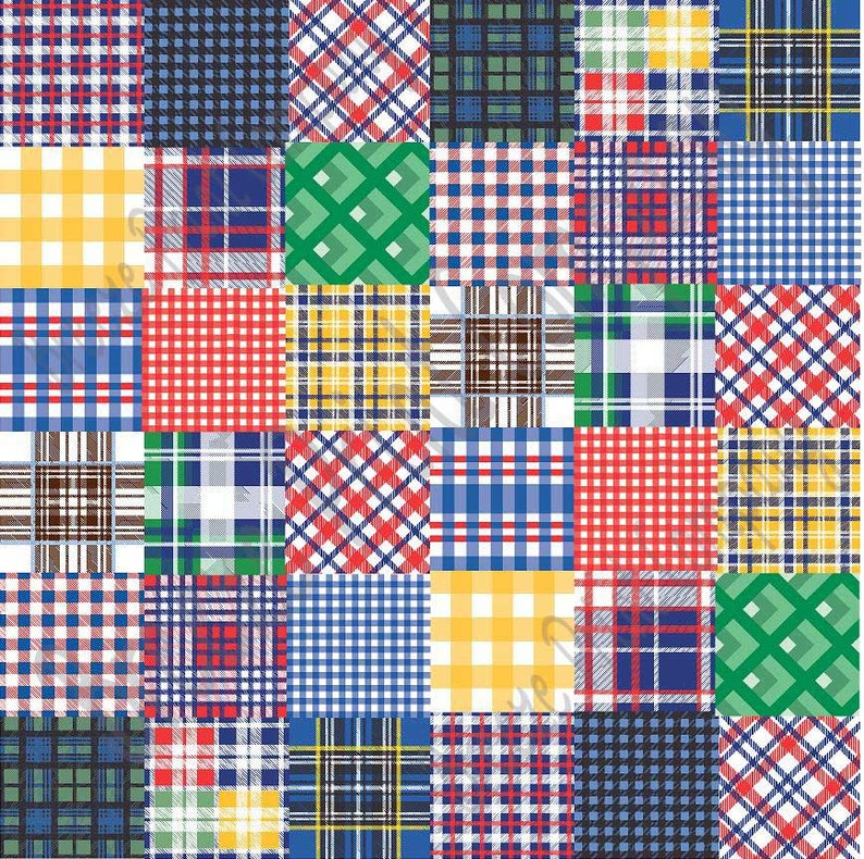 d9483863409 Patchwork quilt plaid craft vinyl sheet HTV or Adhesive