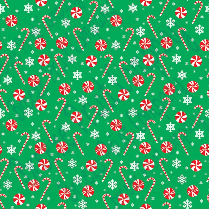 6b99b3a310ab48 Patterned Vinyl Green candy cane and snowflake craft vinyl