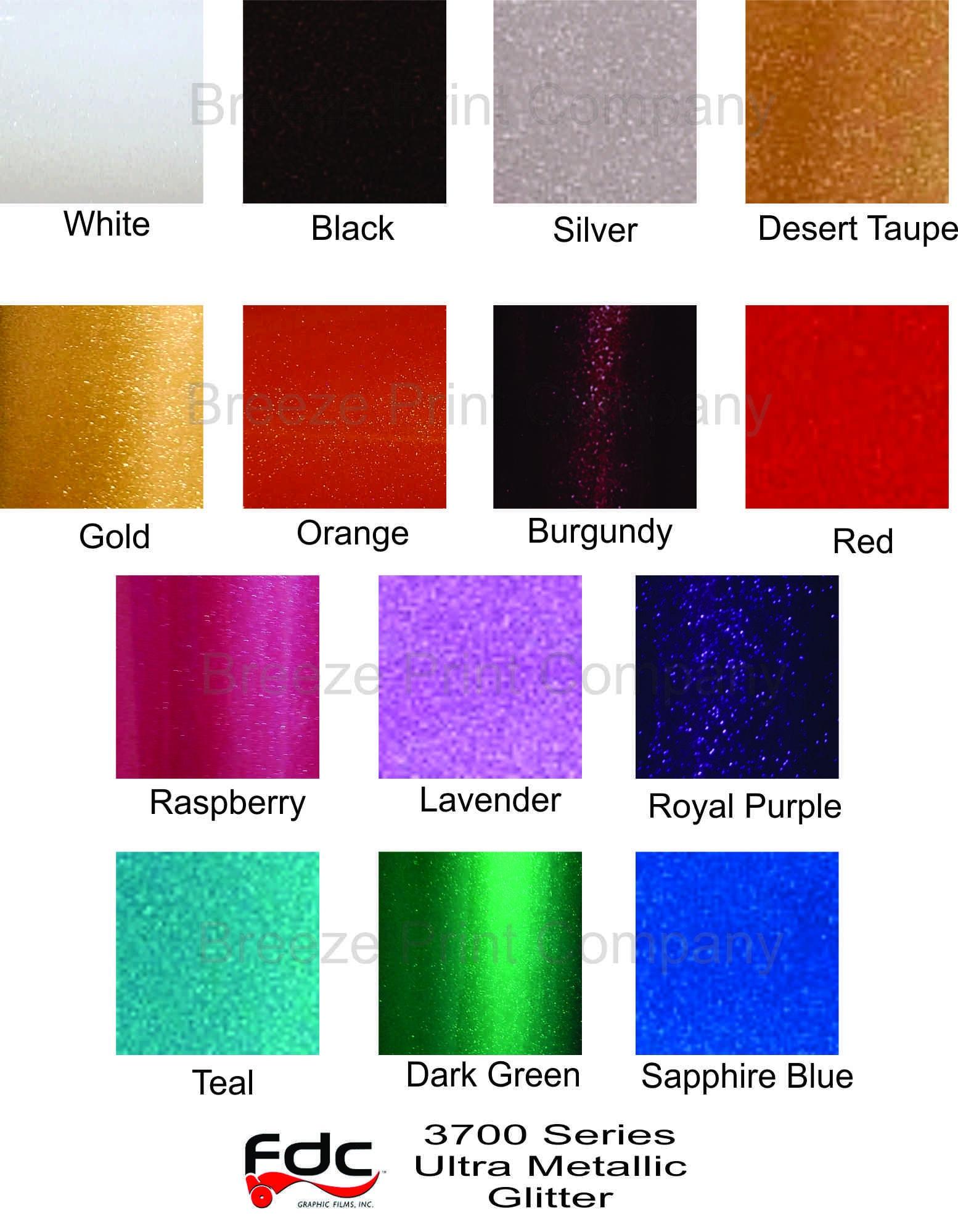 Glitter Outdoor Vinyl Ultra Metallic Adhesive Vinyl Sheets