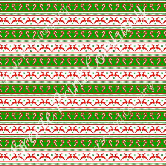 ea52b058ff3036 Christmas reindeer and candy cane pattern craft vinyl pattern