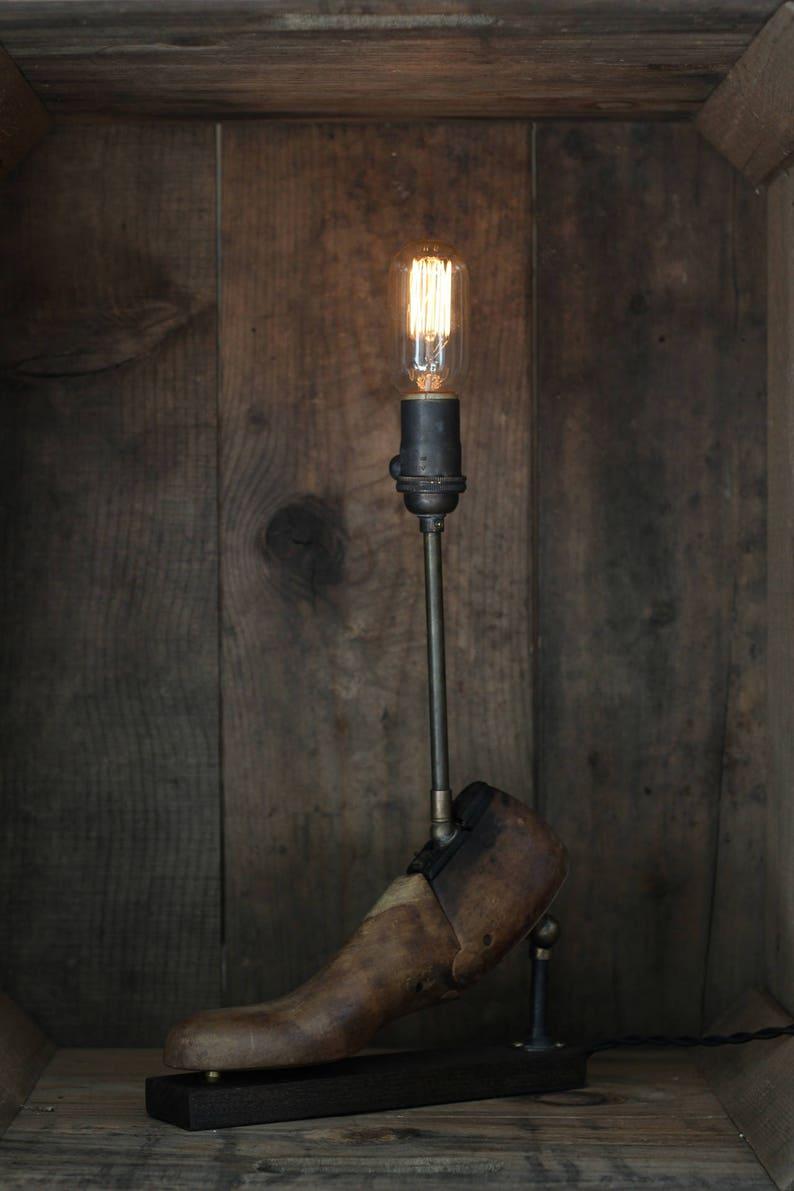 Repurposed Shoe Form Lamp