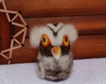 CritterCreatures by Aurora (TM):  Grand Wizard Owl (Needle Felted Wildlife)
