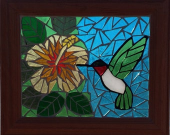 Hibiscus Stain Glass Etsy