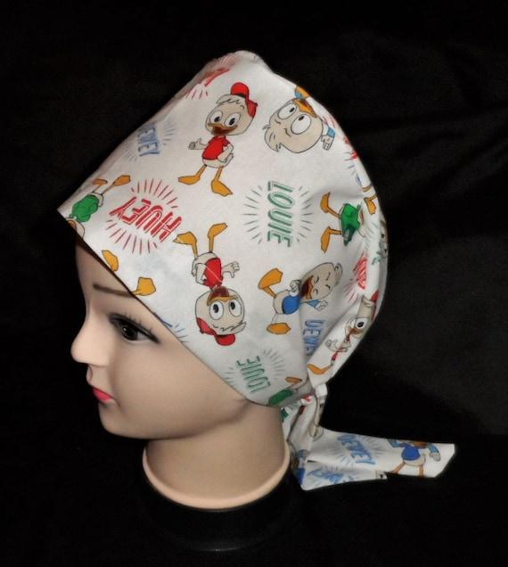 Etsy Handmade Black And Gray Flowers Ladies Nurses Scrubs Hats Women Pixie Scrub Caps Surgical Medical Hats