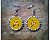 Star Trek Bottle Cap Earrings, Key Rings & Necklaces