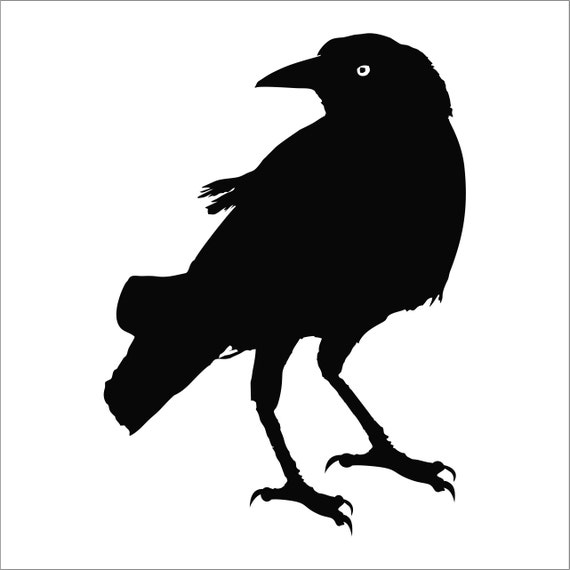 Crows Used Cars Crowsusedcars: Crow Raven Blackbird Decal Sticker Car Decal Laptop Decal
