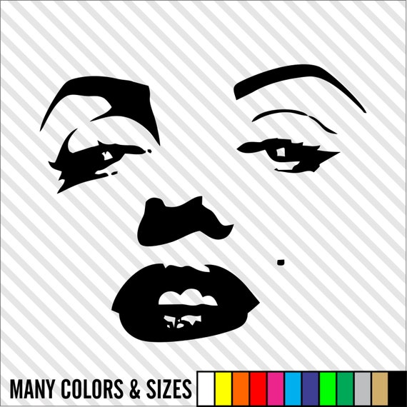 Marilyn Monroe Vinyl Decal Sticker Color Size Choice For Car Window Wall Laptop