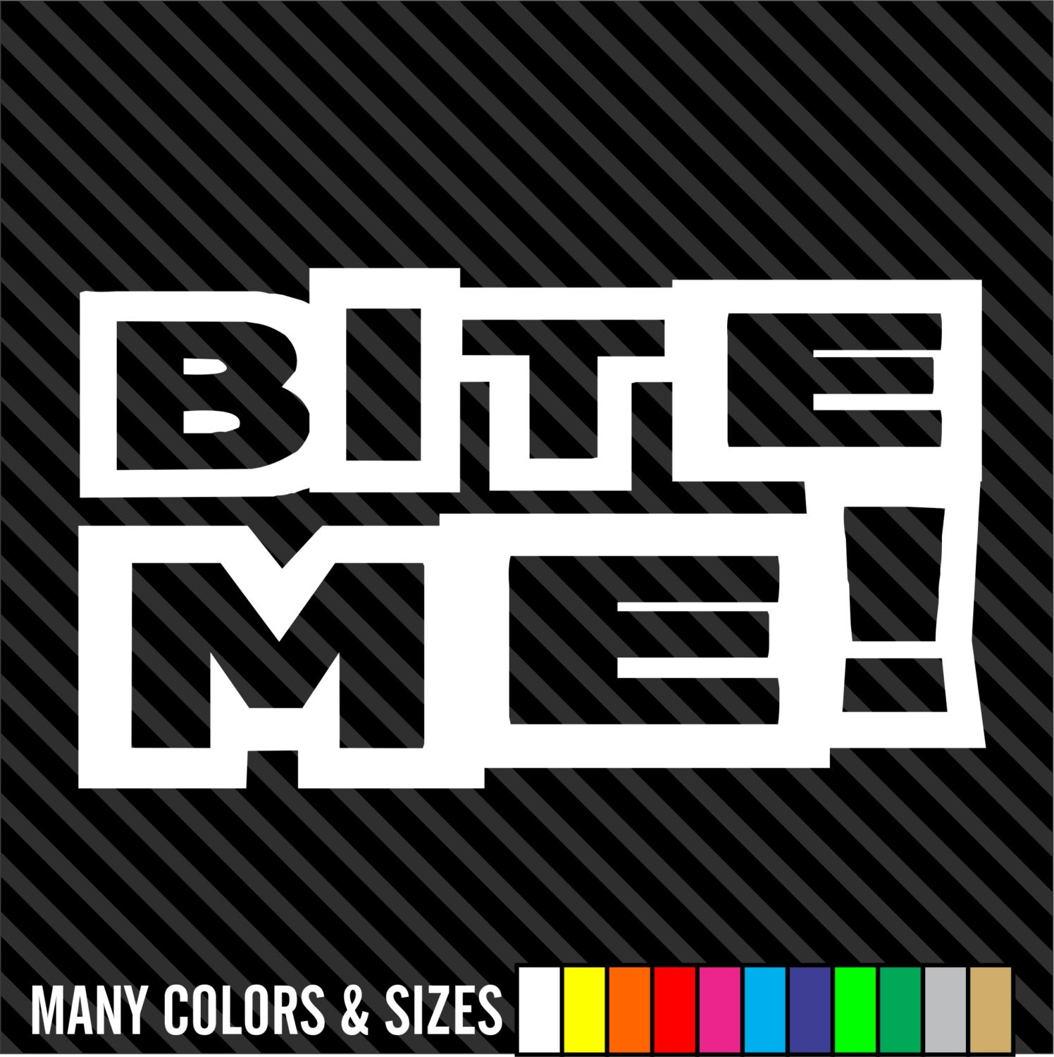 Bite me decal funny biker motorcycle vinyl helmet hard hat etsy