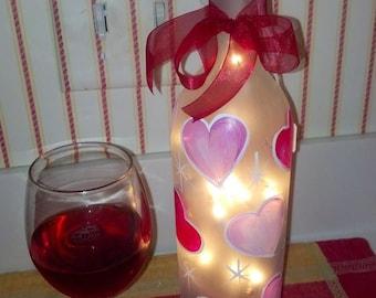 Romantic Lighted Wine Bottles