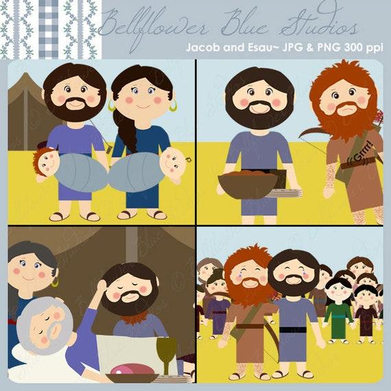 Jacob And Esau Digital Clipart Etsy