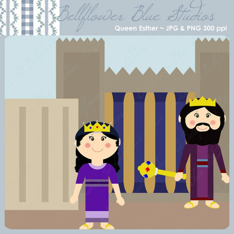 Queen Esther Digital Clipart full color version image 0