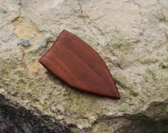 Contemporary brooch, wooden brooch, hat pin, organic brooch pin, abstract organic, small brooch, wooden ornament, woodworking, urban brooch