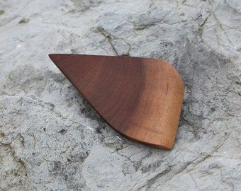 Natural brooch, contemporary brooch, minimalist wood brooch, orange, jellow, nature ornament, hat pin, abstract wood brooch, organic jewelry