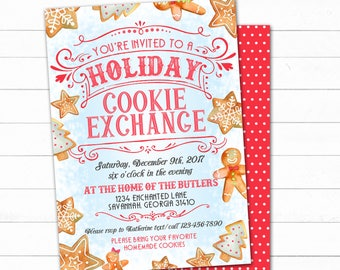 Cookie Exchange Invitation Holiday Cookie Exchange Cookie