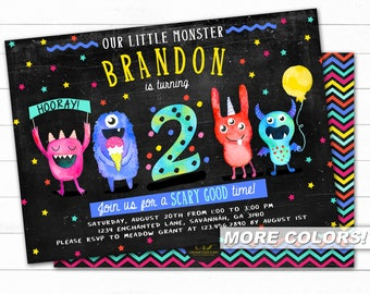 Monster Birthday Invitation, Monster Invitation, Monster First Birthday , Little Monster Birthday, Monster Party, Monster Birthday Invite
