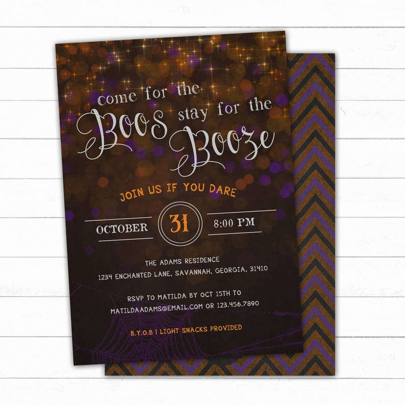 Boos And Booze Halloween Party Invitation Adult Halloween Party Halloween Invitation Halloween Costume Party Halloween Party Invite
